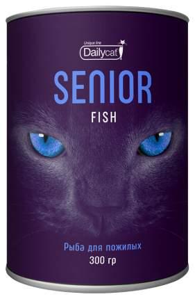 Сухой корм для кошек Dailycat Unique line Senior, для пожилых, рыба, 0,3кг