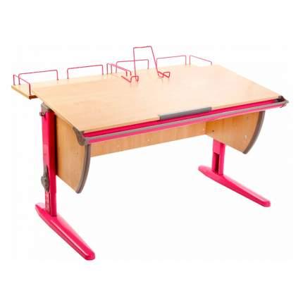 Парта ДЭМИ СУТ-15-01 120х55 см + 2 задние приставки клен, розовый,