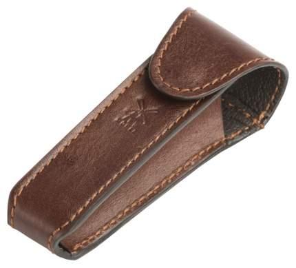 Дорожный чехол для Т-образной бритвы Muehle коричневая кожа