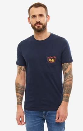 Футболка мужская Jack & Jones 12158050 синяя/красная/желтая M