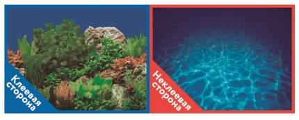Фон для аквариума Prime самоклеющийся Синее море/Растительный пейзаж 50x100см