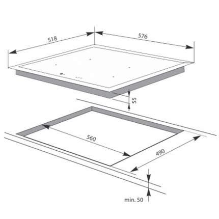 Встраиваемая варочная панель индукционная Hansa BHI68077 Black