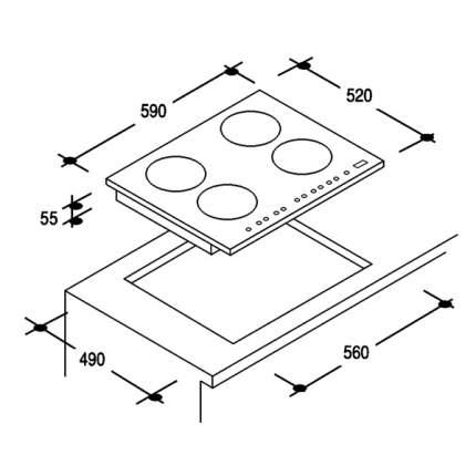 Встраиваемая электрическая панель независимая Candy CIE4630B3