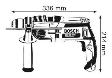 Сетевая ударная дрель Bosch GSB 19-2 RE 060117B600