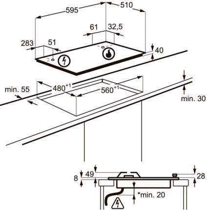 Встраиваемая варочная панель газовая Electrolux GPE963FX Silver