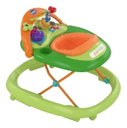 Ходунки Chicco BAND GREEN WAVE с игрушкой 'руль', зеленые 7954032
