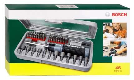 Наборная отвертка с насадками Bosch 46 предметов (2607019504) серый