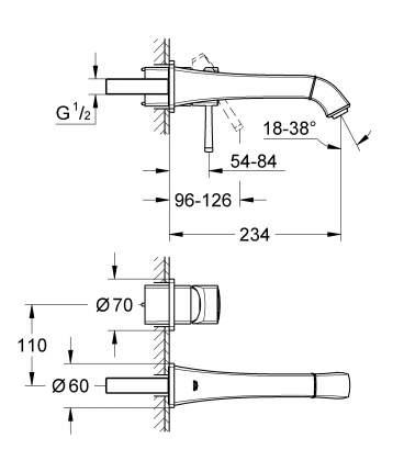 Смеситель для встраиваемой системы Grohe Grandera 19930000 серебристый