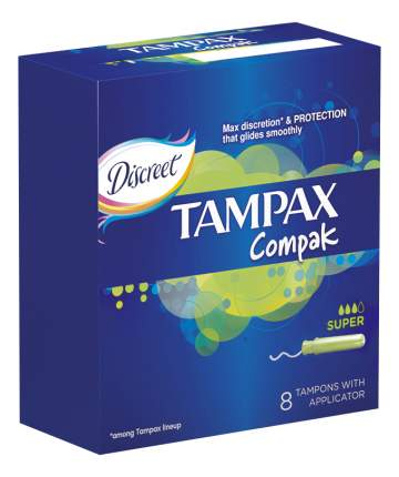 Тампоны Tampax Super Single 8шт
