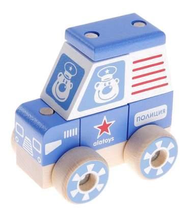 Конструктор деревянный Alatoys Полицейская машина малая