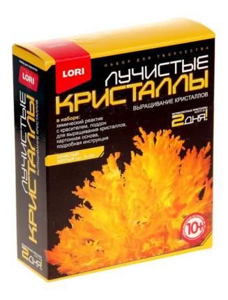 Набор для выращивания кристаллов Lori Лучистые Кристаллы желтый
