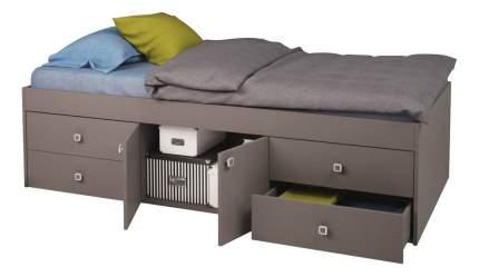 Кровать Polini Simple 3100 с 4 ящиками, серый