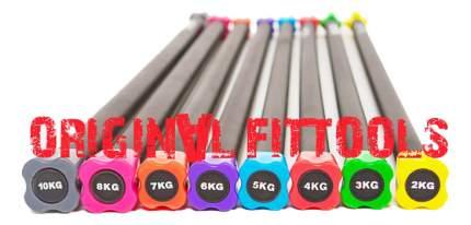 Бодибар Original Fit.Tools FT-BDB-12 132 см, yellow, 12 кг