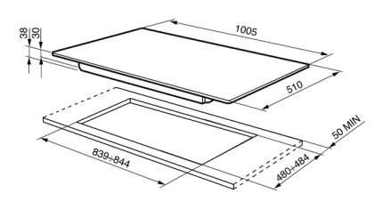 Встраиваемая варочная панель газовая Smeg P106ES Silver