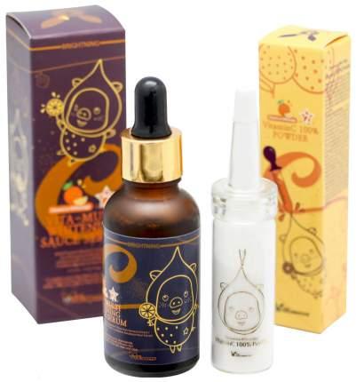 Наборы косметики для лица Elizavecca Vitamin C 100% Powder 12 гр + Vita Multi Serum 30 мл