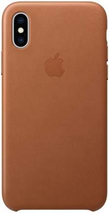 Кейс для iPhone Apple Leather XS кожаный коричневый MRWP2ZM/A