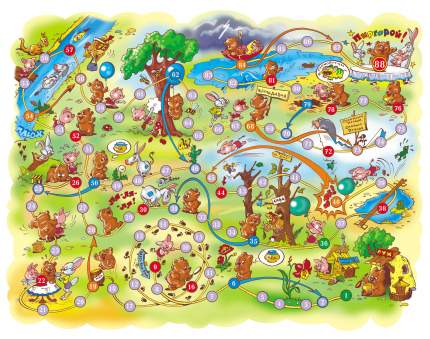 Семейная настольная игра Десятое Королевство Приключения Винни -пуха и его друзей 00294ДК