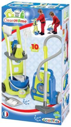 Игровой набор Ecoiffier Тележка для уборки, 10 предметов