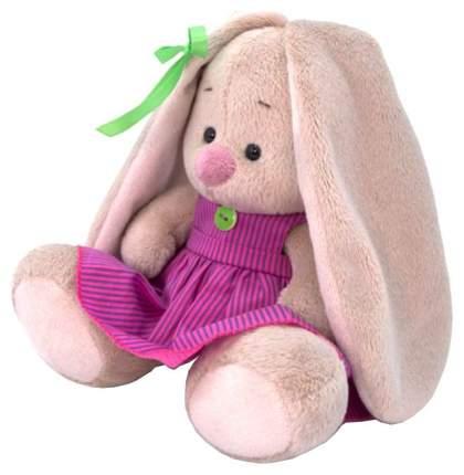 Мягкая игрушка BUDI BASA Зайка Ми в розовом платье в полоску, 15 см
