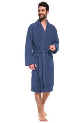 Мужской банный махровый халат Jeans Label ЕvaTeks 365, джинс, 54-56