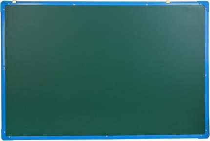 Доска двусторонняя, магнитно-маркерная, с полочкой, 90 × 60 см, синяя рама Sima-Land