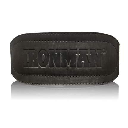 Пояс для тяжелой атлетики широкий Ironman черный, M