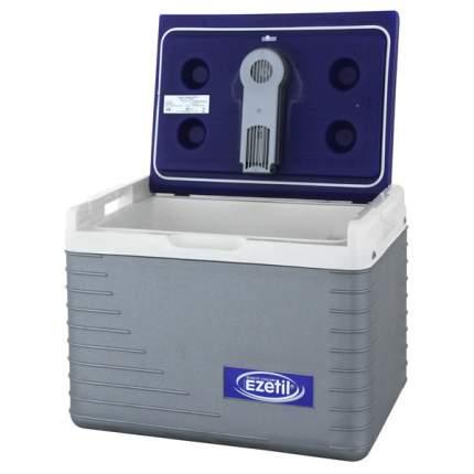 Автохолодильник EZETIL E 45 термоэлектрический, цвет серебристый, белый, синий