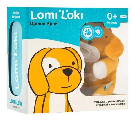 Пустышка Lomi Loki с развивающей игрушкой Щенок Арчи