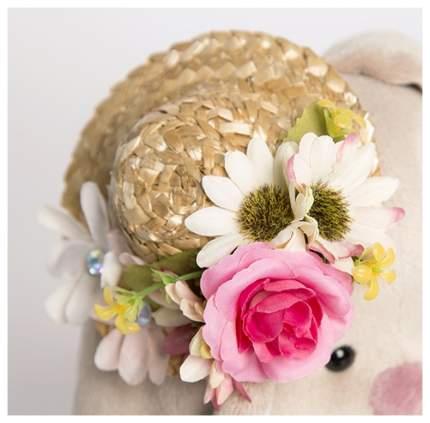 Мягкая игрушка Budi Basa Зайка Ми в соломенной шляпке 18 см