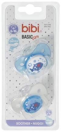 Пустышка силиконовая Bibi Dental BasicCare 6-16 мес 2 шт
