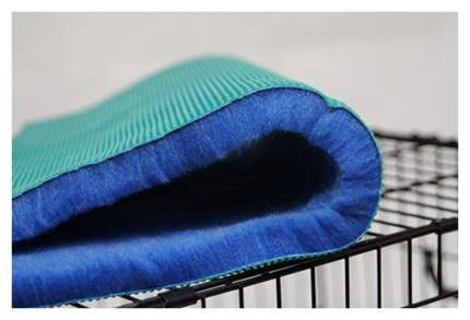 Коврик для животных ProFleece, меховой, камуфляж, синий/голубой/белый, 1х1,6 м