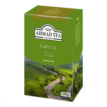"""Чай Ahmad """"Green Tea"""", зеленый, листовой, 100 гр"""