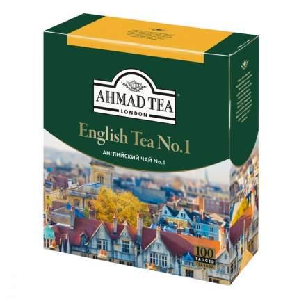 """Чай Ahmad """"English Tea №1"""", черный с бергамотом, 100 пакетиков"""