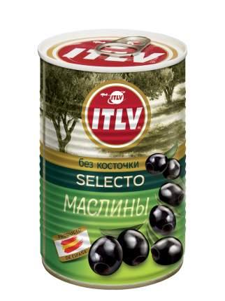 Маслины ITLV selecto черные без косточки 425 г