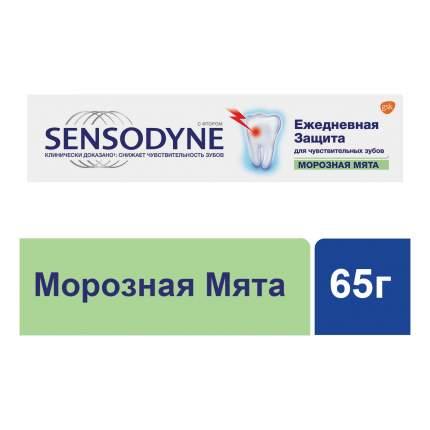 Зубная паста Sensodyne Ежедневная Защита Морозная Мята, для чувствительных зубов, 65 г