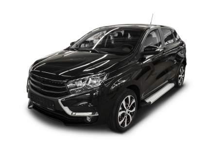 """Пороги алюминиевые """"Silver"""" Rival для Lada X-Ray 2016-н.в., 173 см, 2 шт., F173AL.6002.1"""