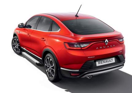 "Пороги ""Silver"" Rival Nissan Terrano III 14-/Renault Arkana 19-/Duster 11-/Kaptur 20-"