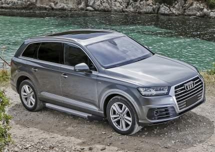 """Пороги на автомобиль """"Silver"""" Rival для Audi Q7 II 2015-н.в., 193 см, F193AL.0304.1"""