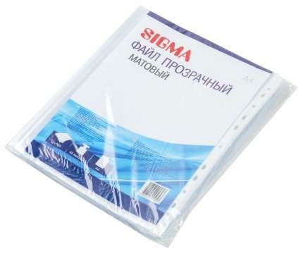 Файл Sigma прозрачный матовый 100шт