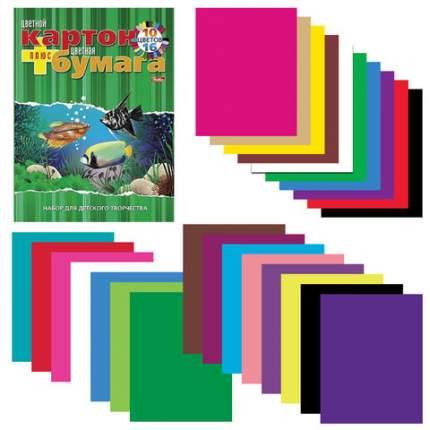 Набор цветного картона Hatber 26НКБ4к_09572