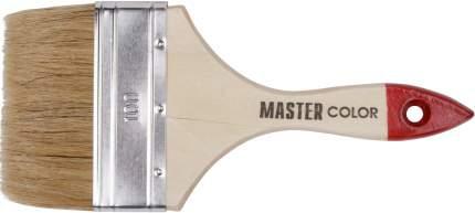 Кисть флейцевая, натур, щетина, 55% топс, лакиров,ручка, ширина 100 мм 30-0016