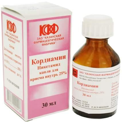 Кордиамин раствор 250 мг/мл 30 мл