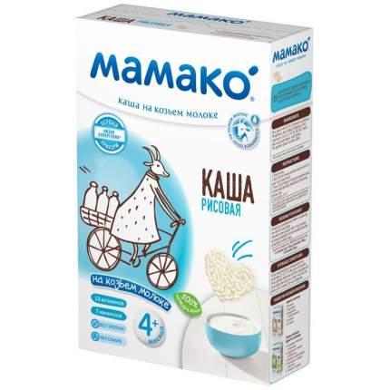 Каша молочная Мамако Рисовая на козьем молоке с 4 мес. 200 г