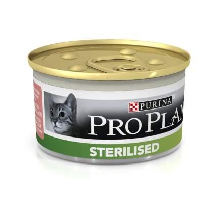 Консервы для кошек PRO PLAN Sterilised, лосось, тунец, 85г