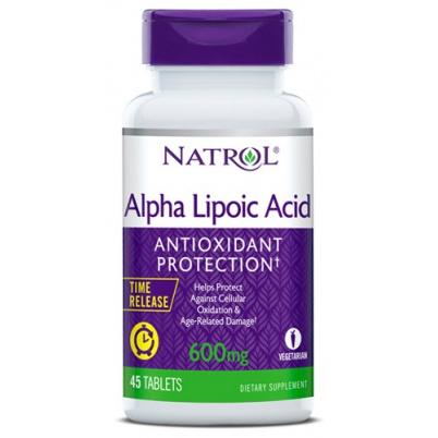 Natrol Alpha Lipoic Acid 600 мг 45 таблеток