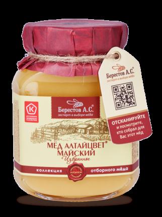 Мед натуральный Майский Берестов А.С. коллекция Избранное 500 г
