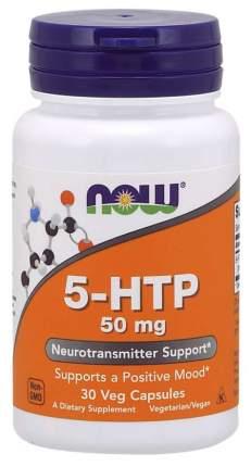 Добавка для иммунитета, добавка для нервной системы NOW 5-HTP 30 капс. нейтральный