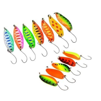Форелевые блесны. Набор 12 штук. Lucky Fish. KIT78