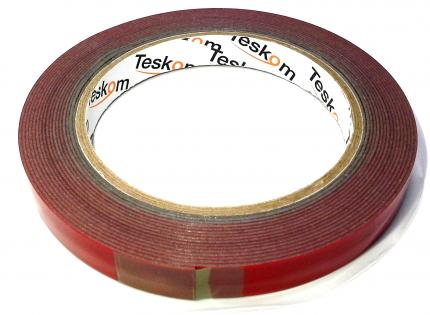 Монтажная профессиональная серая двухсторонняя лента Teskom (скотч) с HSA 9 мм х 5 м