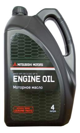 Моторное масло Mitsubishi Engine Oil 0W-20 4л